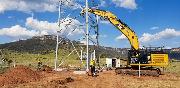 Future Engineer's specialist team of steel engineers installing a lattice tower