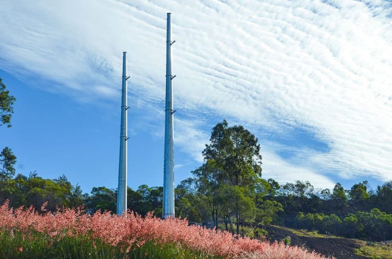 Future Engineering telecommunication pole in local park